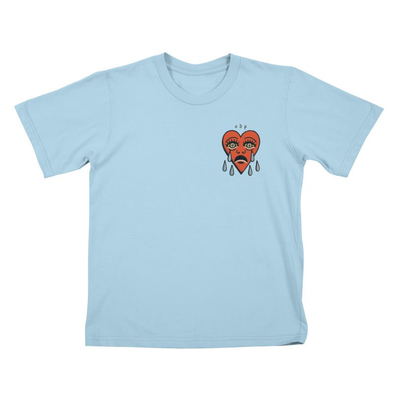 CRYING HEART Kids T-Shirt by ODP