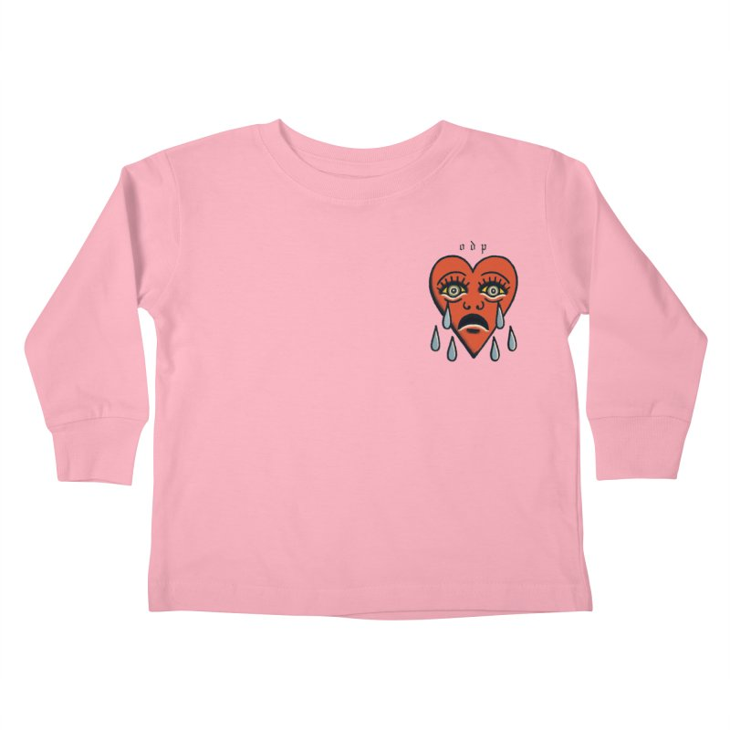 CRYING HEART Kids Toddler Longsleeve T-Shirt by ODP