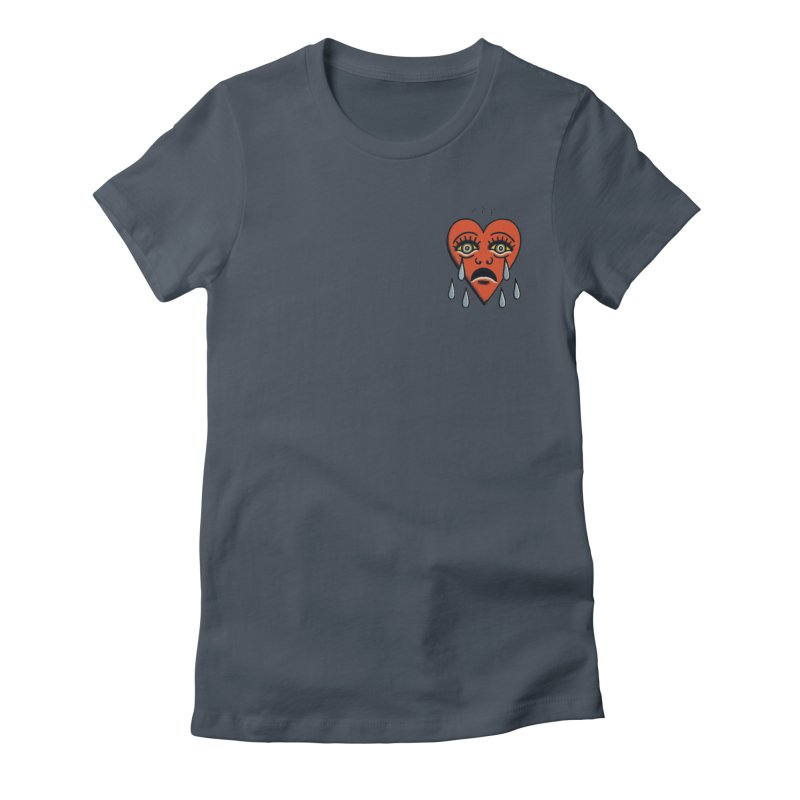 CRYING HEART Women's T-Shirt by ODP