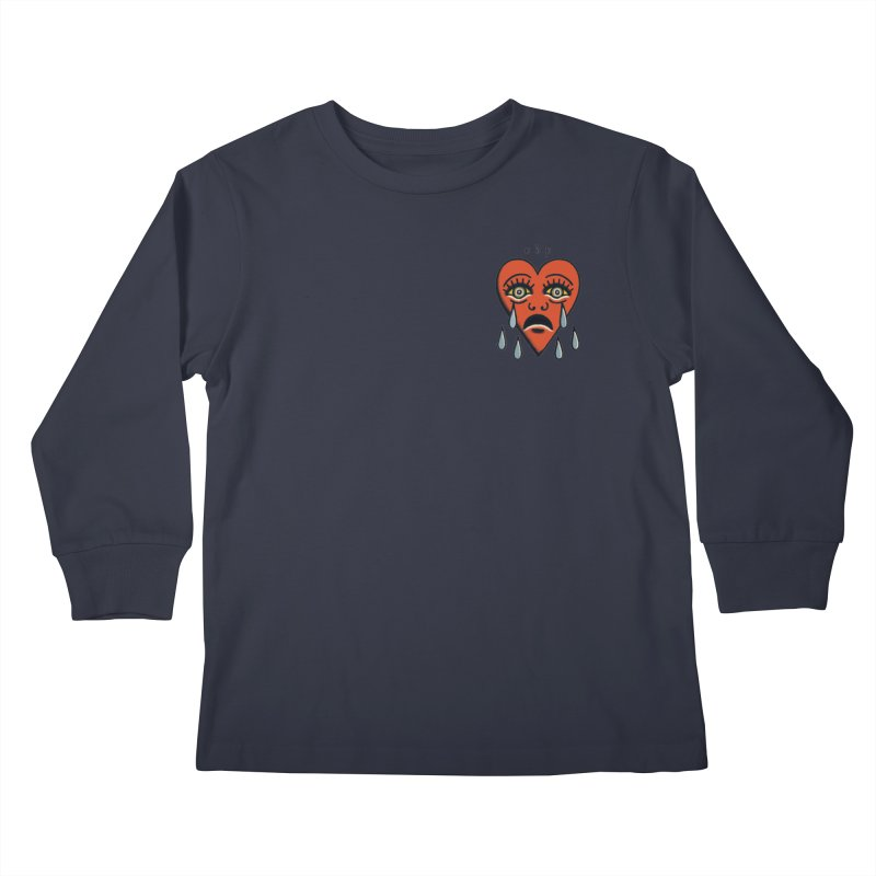 CRYING HEART Kids Longsleeve T-Shirt by ODP