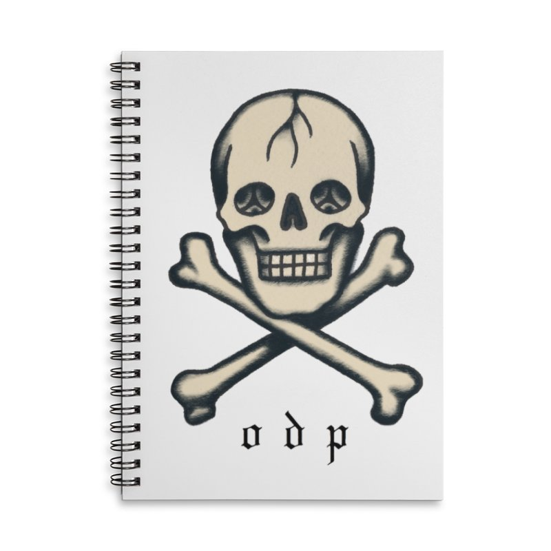 CROSSBONES Accessories Lined Spiral Notebook by ODP