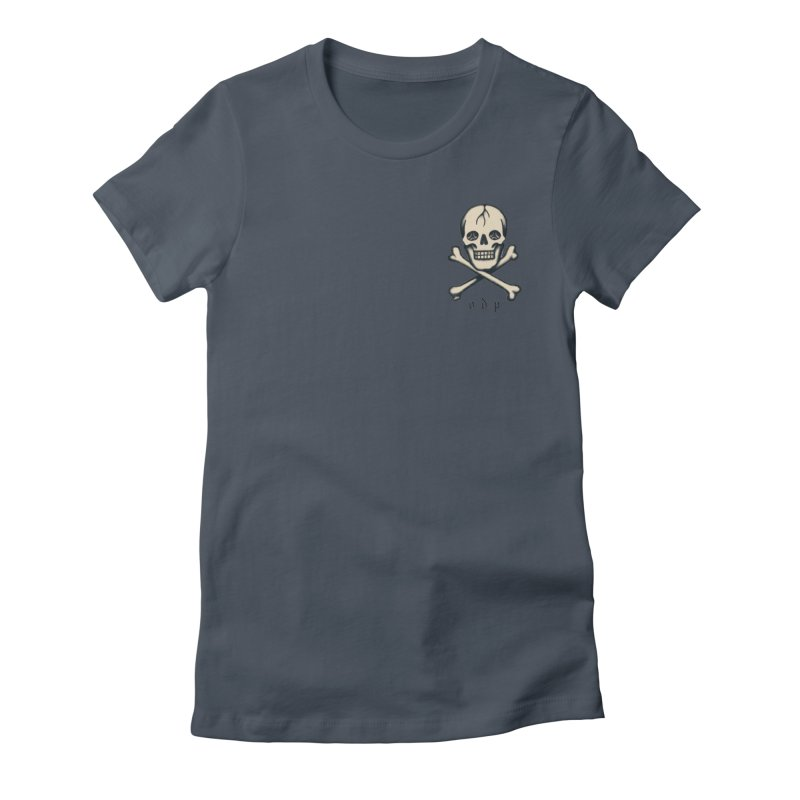 CROSSBONES Women's Fitted T-Shirt by ODP