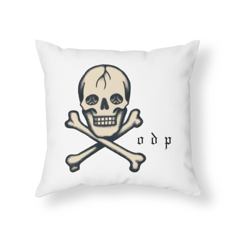 CROSSBONES Home Throw Pillow by ODP