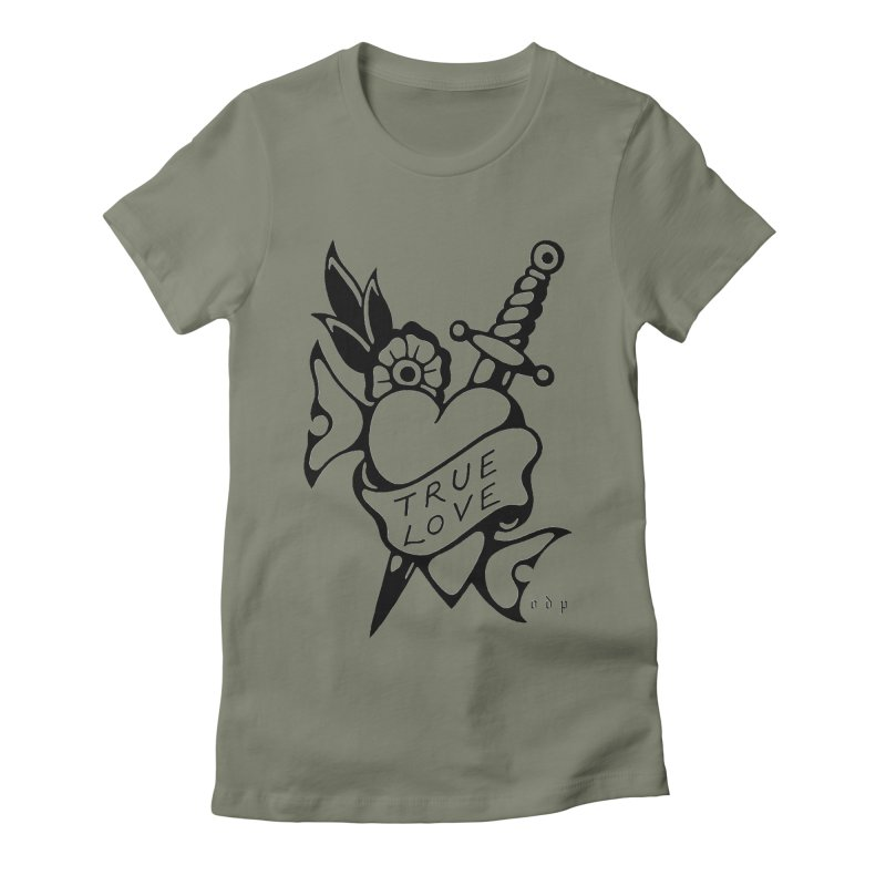 TRUE LOVE Women's Fitted T-Shirt by ODP