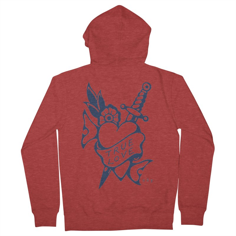 TRUE BLUE Men's French Terry Zip-Up Hoody by ODP