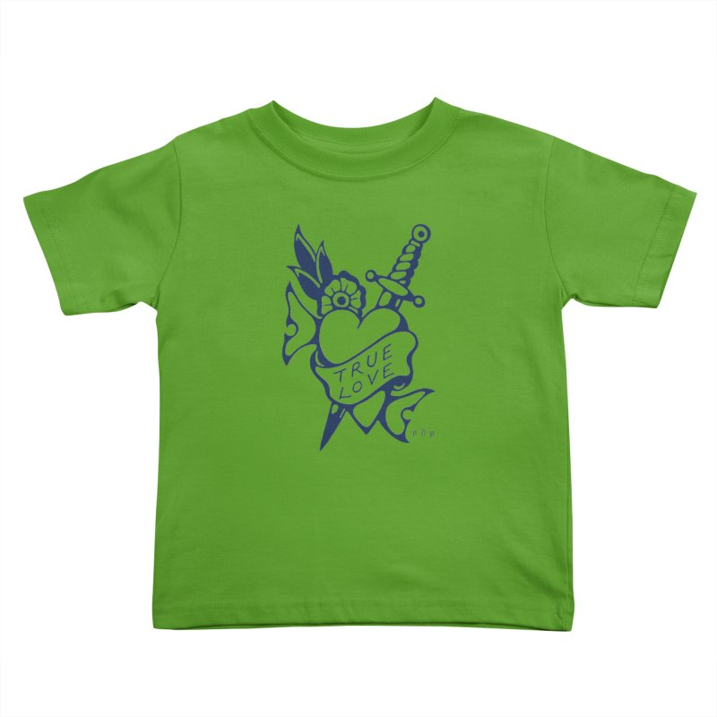 TRUE BLUE Kids Toddler T-Shirt by ODP