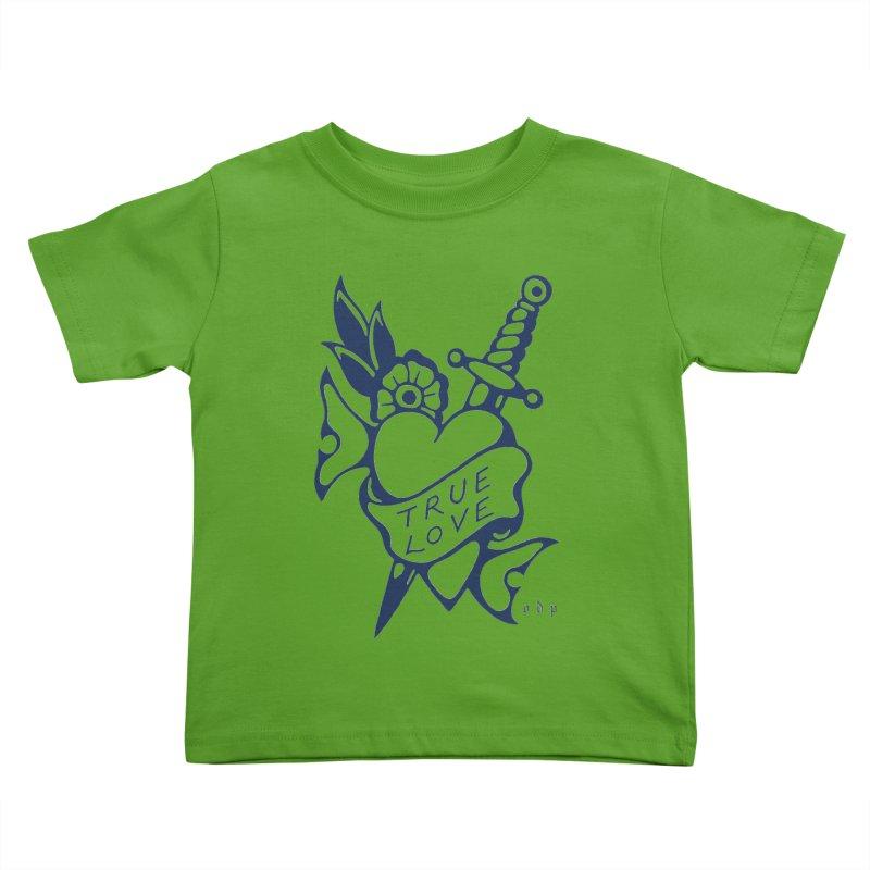 TRUE BLUE Kids Toddler T-Shirt by ODP