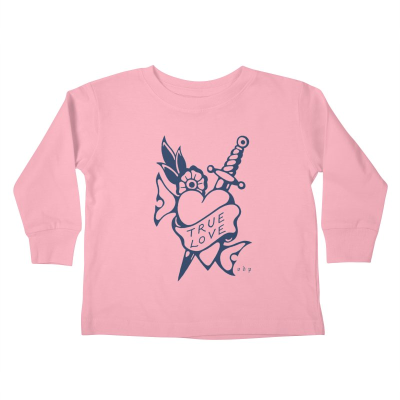 TRUE BLUE Kids Toddler Longsleeve T-Shirt by ODP