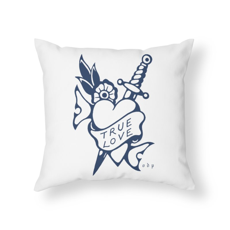 TRUE BLUE Home Throw Pillow by ODP