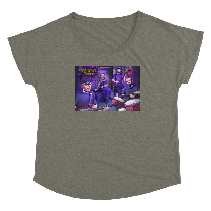 OGR Cartoon Women's Scoop Neck by Only Ghosts Remain