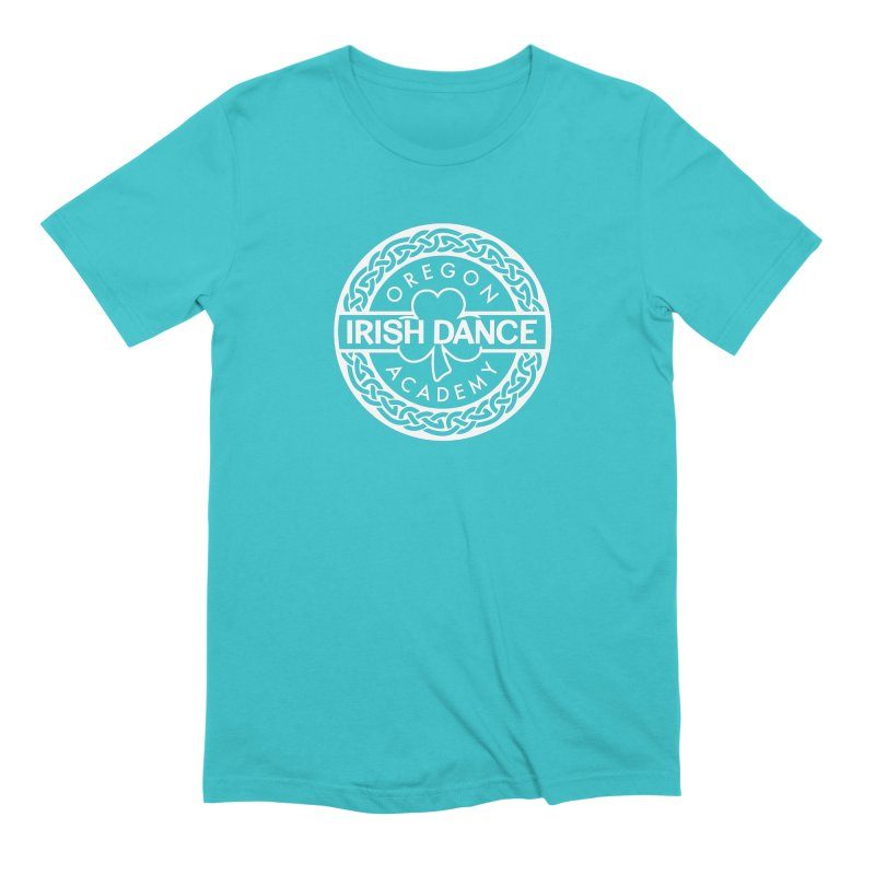 Shirts With White Logo (EXTRA Shirt Color Choices!) Men's Extra Soft T-Shirt by Oregon Irish Dance Academy