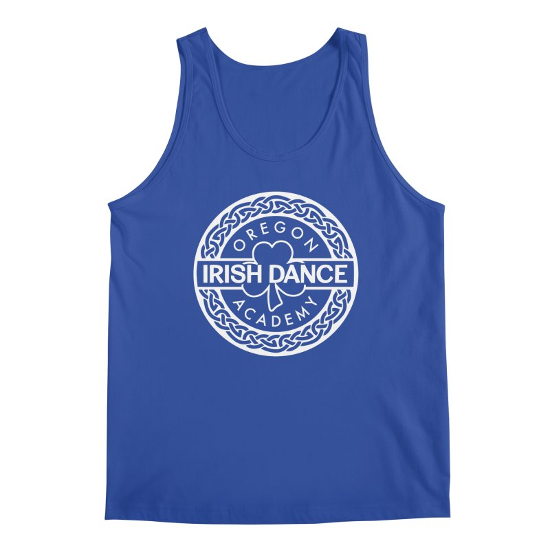 Shirts With White Logo (EXTRA Shirt Color Choices!) Men's Regular Tank by Oregon Irish Dance Academy