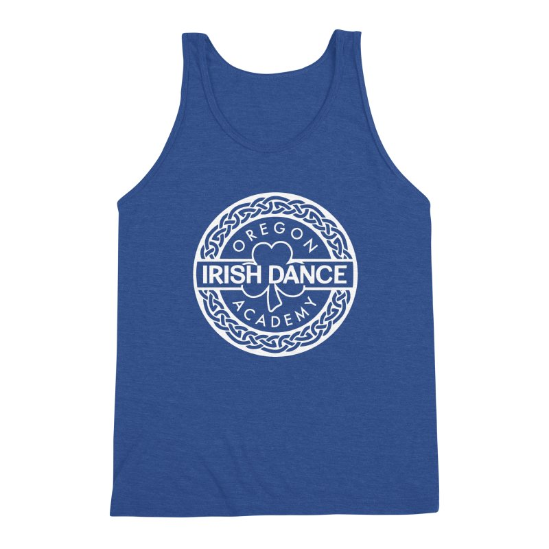 Shirts With White Logo (EXTRA Shirt Color Choices!) Men's Triblend Tank by Oregon Irish Dance Academy