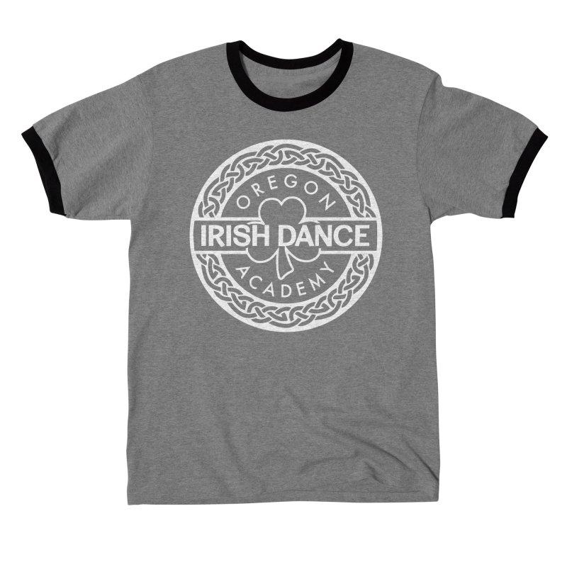 OIDA White Logo Men's T-Shirt by Oregon Irish Dance Academy