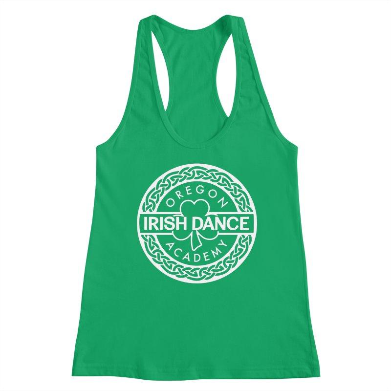 OIDA White Logo Women's Tank by Oregon Irish Dance Academy
