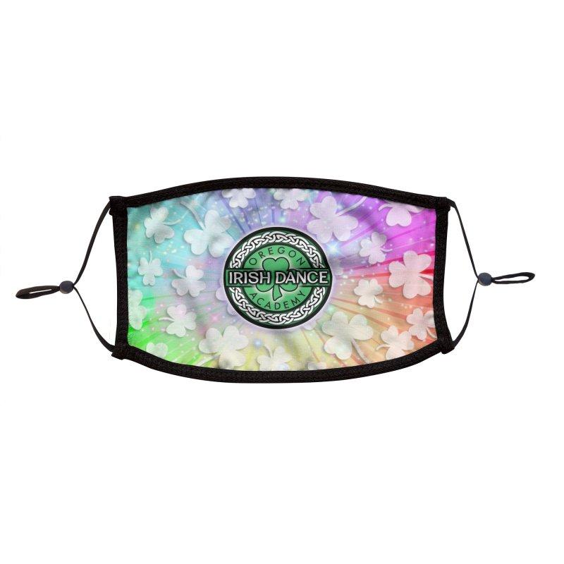 Rainbow Shamrocks Accessories Face Mask by Oregon Irish Dance Academy
