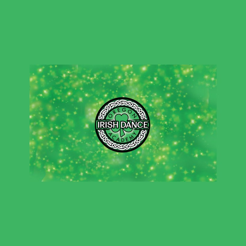 Green Glittery Home Throw Pillow by Oregon Irish Dance Academy