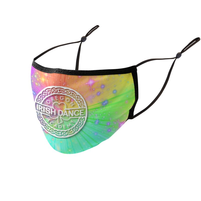 Rainbow Explosion Accessories Face Mask by Oregon Irish Dance Academy