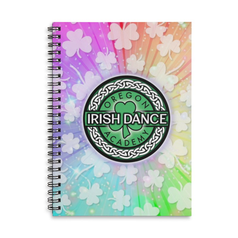 Rainbow Shamrocks Accessories Notebook by Oregon Irish Dance Academy
