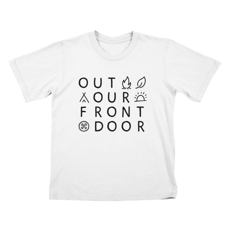 OOFD Simple Art by Evan Miller Kids T-Shirt by OOFD's Artist Shop