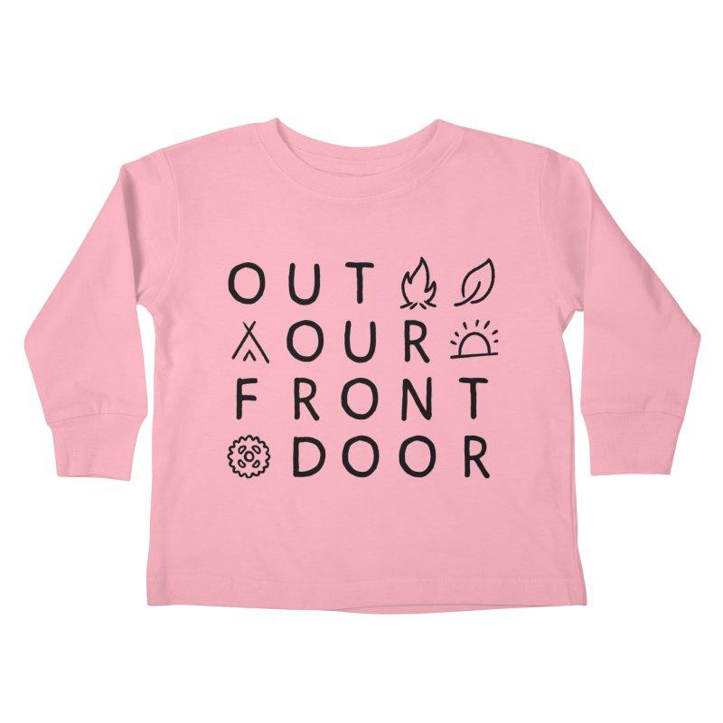 OOFD Simple Art by Evan Miller Kids Toddler Longsleeve T-Shirt by OOFD's Artist Shop