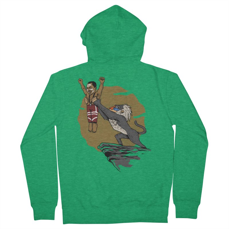 THE KING Men's Zip-Up Hoody by OSAZEAMADASUN's Artist Shop