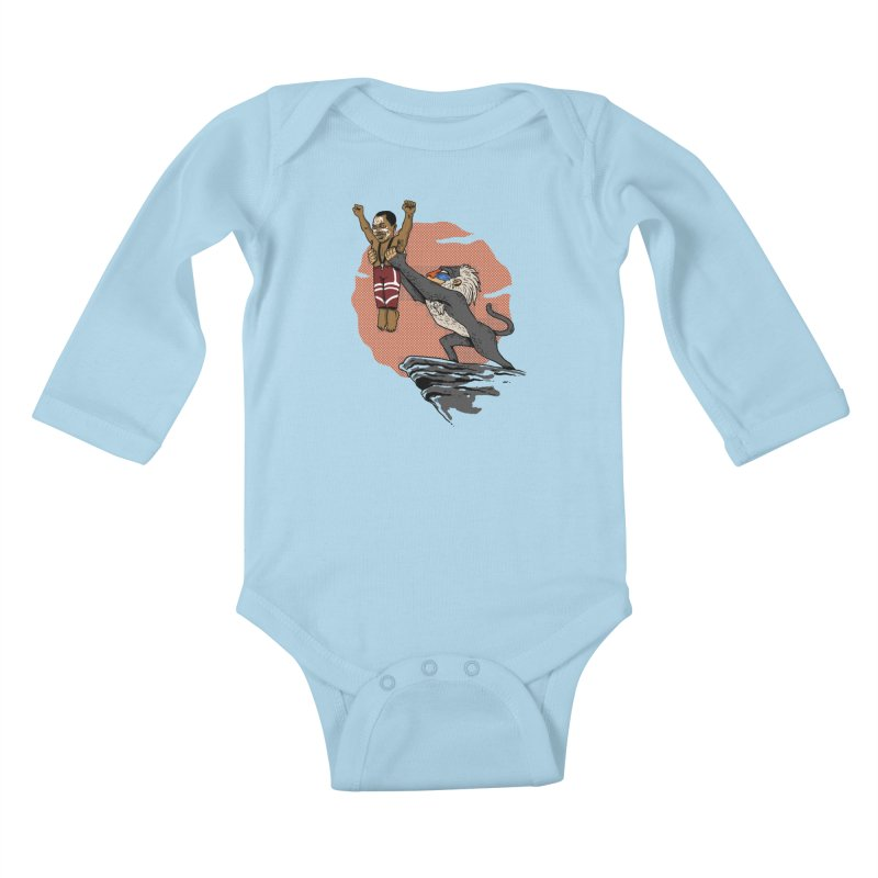 THE KING Kids Baby Longsleeve Bodysuit by OSAZEAMADASUN's Artist Shop