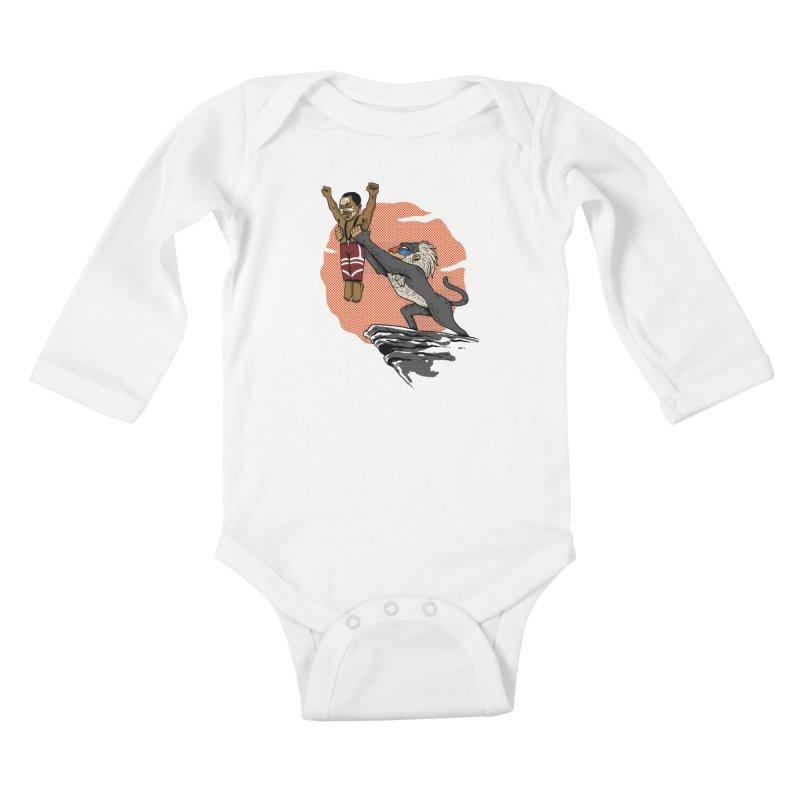 THE KING Kids Baby Longsleeve Bodysuit by OSAZEAMADASUN's Artist Shop
