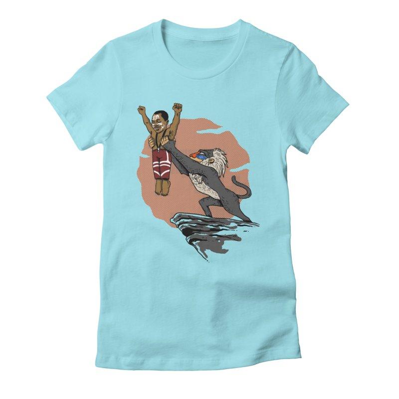 THE KING Women's Fitted T-Shirt by OSAZEAMADASUN's Artist Shop