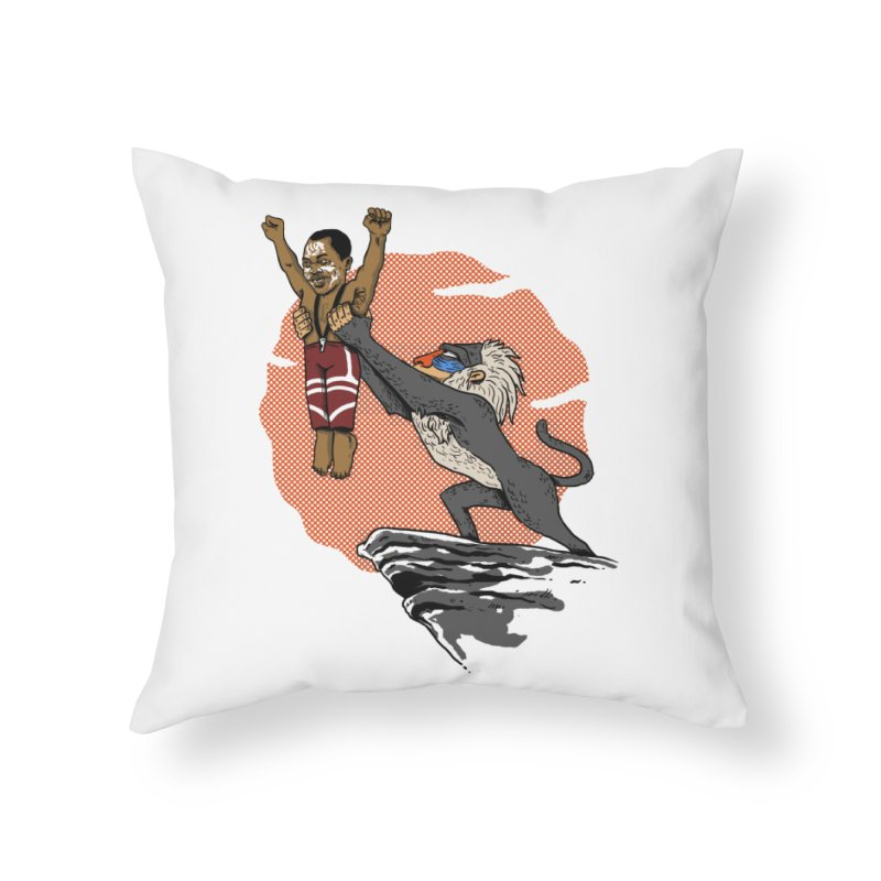 THE KING Home Throw Pillow by OSAZEAMADASUN's Artist Shop