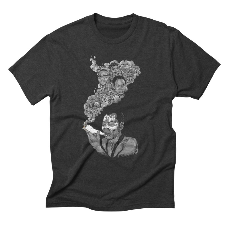 FOOD FOR THOUGHT Men's Triblend T-shirt by OSAZEAMADASUN's Artist Shop