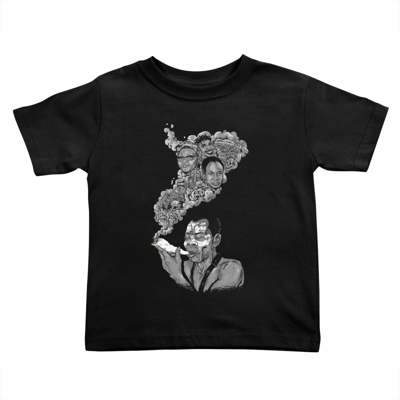FOOD FOR THOUGHT Kids Toddler T-Shirt by OSAZEAMADASUN's Artist Shop