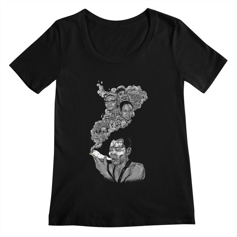 FOOD FOR THOUGHT Women's Scoopneck by OSAZEAMADASUN's Artist Shop