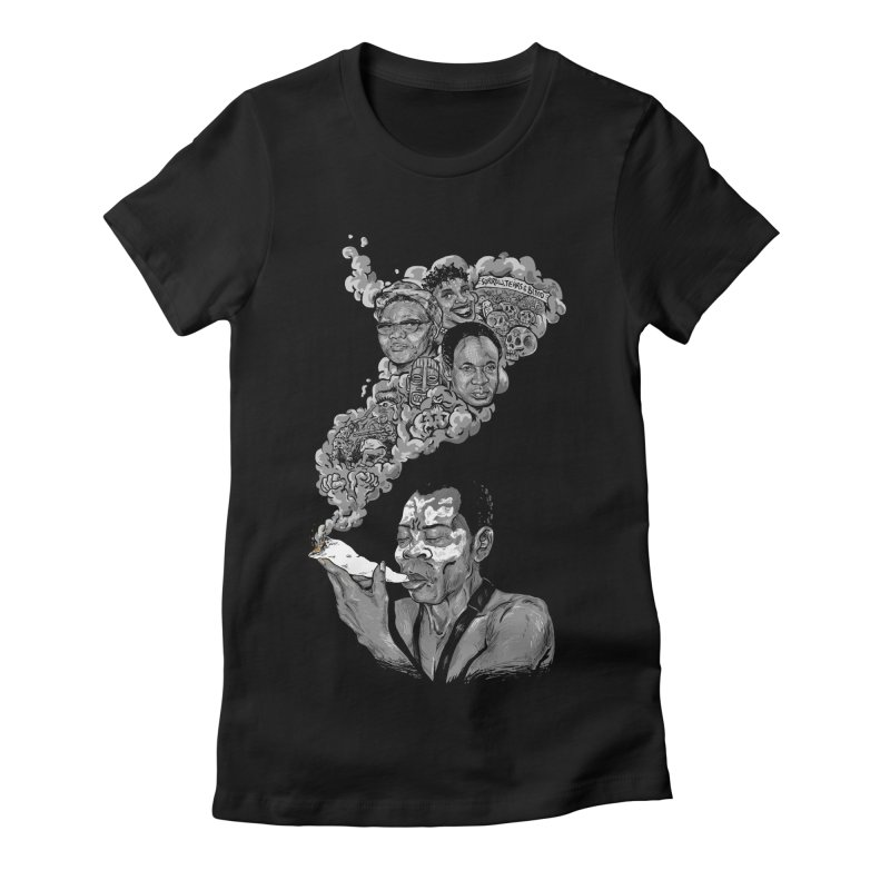 FOOD FOR THOUGHT Women's Fitted T-Shirt by OSAZEAMADASUN's Artist Shop