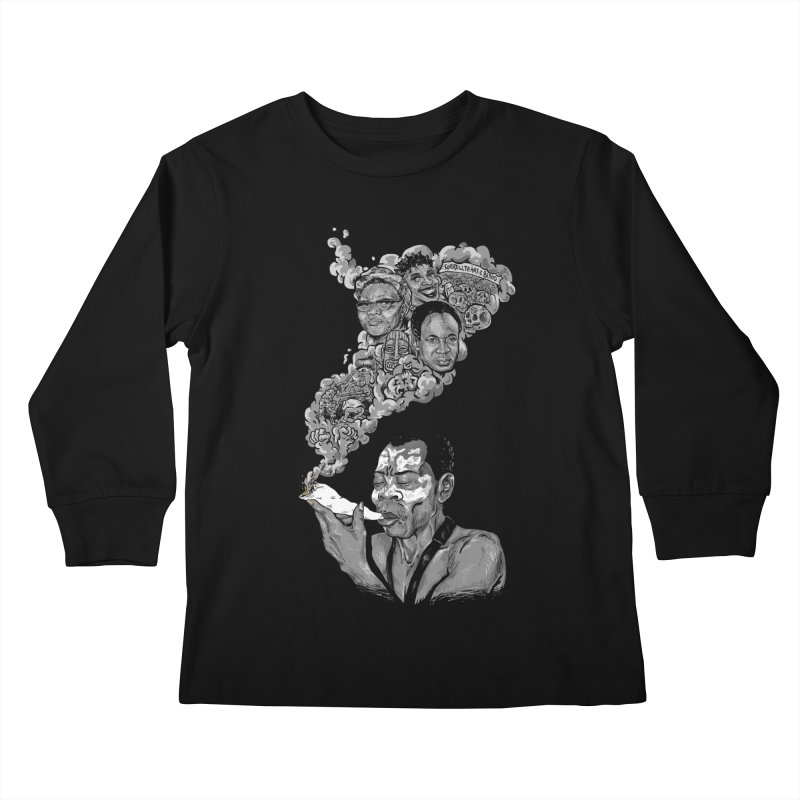FOOD FOR THOUGHT Kids Longsleeve T-Shirt by OSAZEAMADASUN's Artist Shop