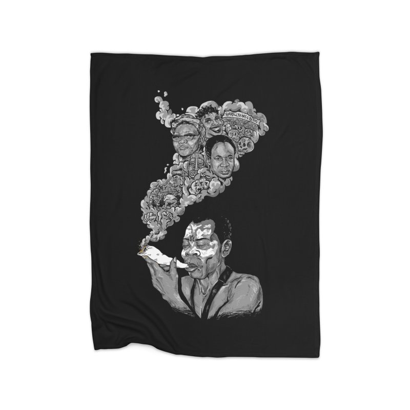 FOOD FOR THOUGHT Home Blanket by OSAZEAMADASUN's Artist Shop