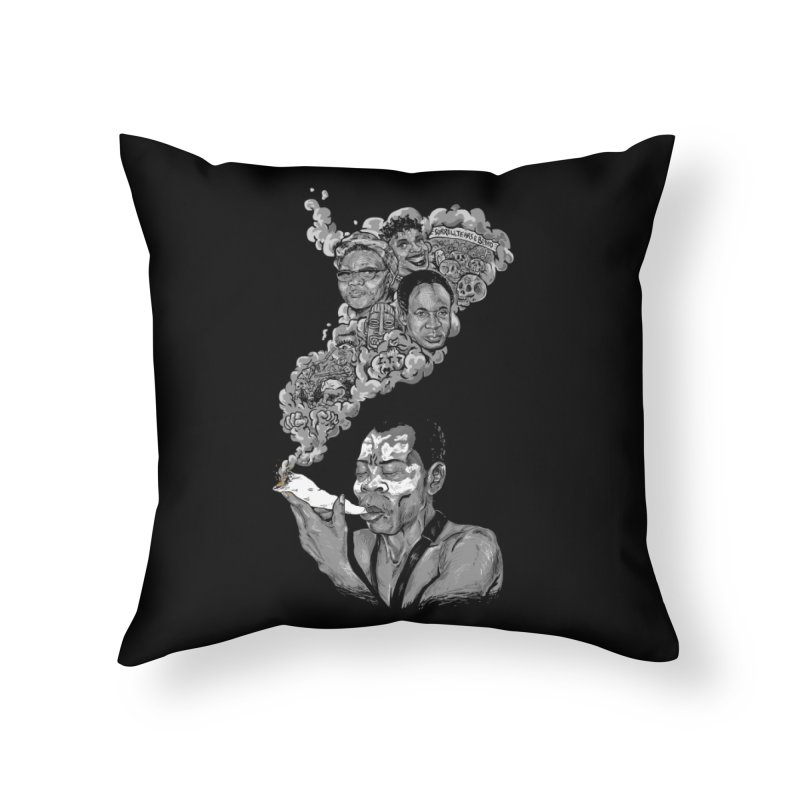 FOOD FOR THOUGHT Home Throw Pillow by OSAZEAMADASUN's Artist Shop