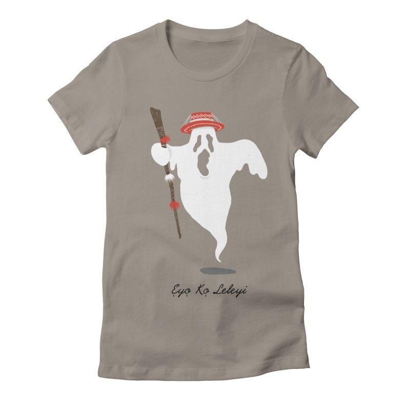 EYO KO LELEYI (THIS IS NOT AN EYO) Women's Fitted T-Shirt by OSAZEAMADASUN's Artist Shop