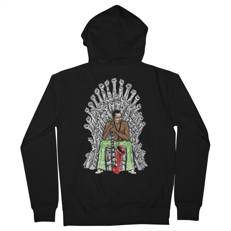 MUSIC IS THE WEAPON Men's Zip-Up Hoody by OSAZEAMADASUN's Artist Shop
