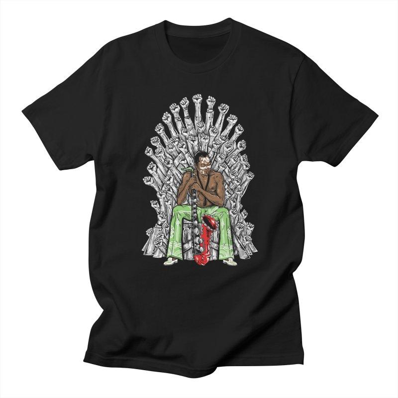 MUSIC IS THE WEAPON Men's T-shirt by OSAZEAMADASUN's Artist Shop
