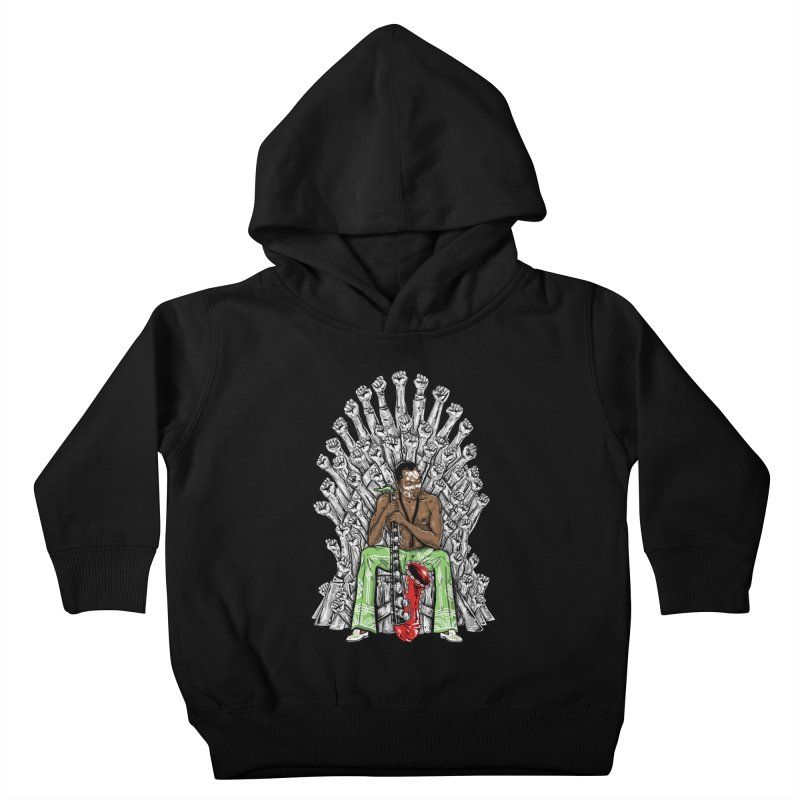 MUSIC IS THE WEAPON Kids Toddler Pullover Hoody by OSAZEAMADASUN's Artist Shop