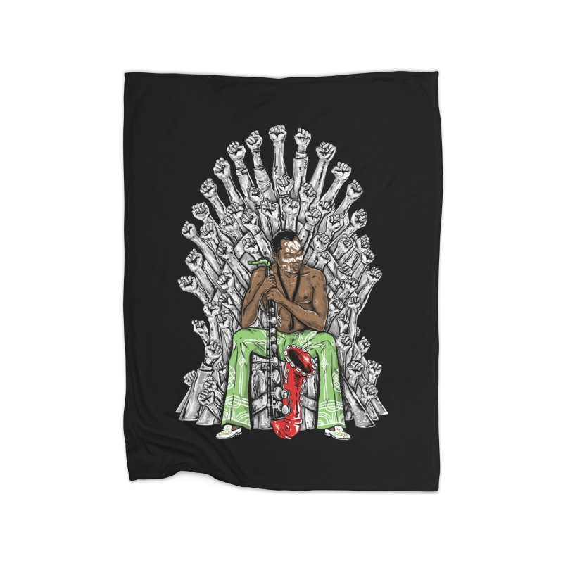 MUSIC IS THE WEAPON Home Blanket by OSAZEAMADASUN's Artist Shop