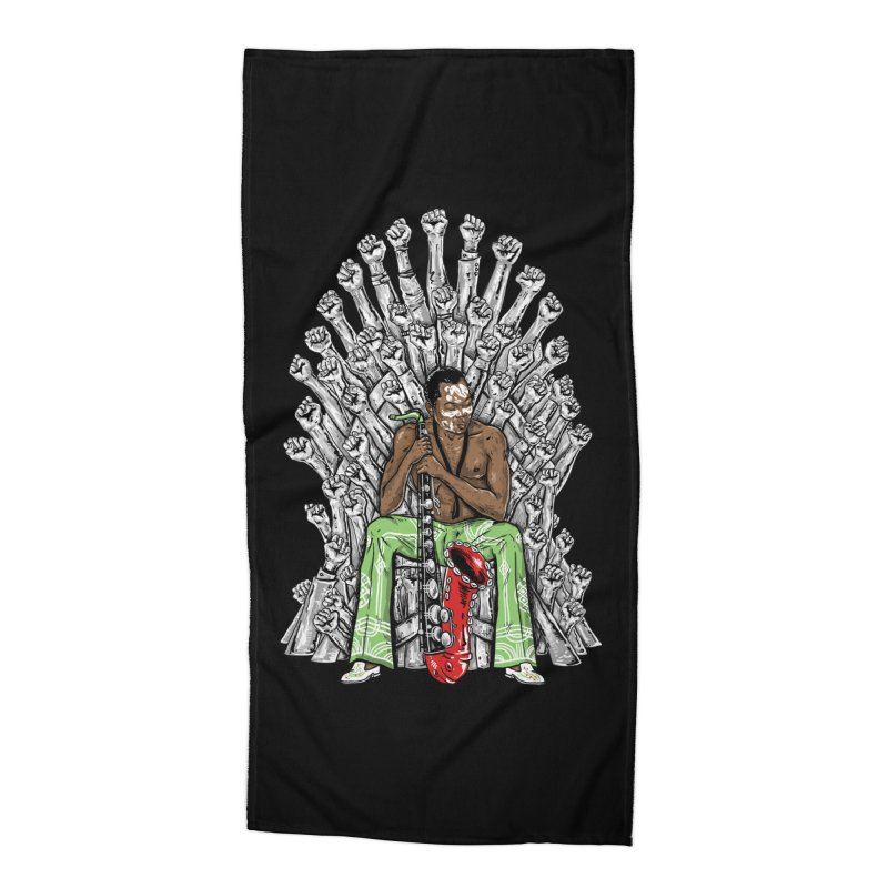 MUSIC IS THE WEAPON Accessories Beach Towel by OSAZEAMADASUN's Artist Shop