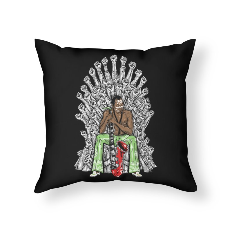 MUSIC IS THE WEAPON Home Throw Pillow by OSAZEAMADASUN's Artist Shop