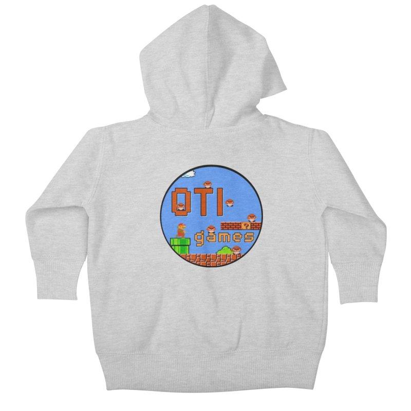 OTI Games #2 Kids Baby Zip-Up Hoody by OTInetwork