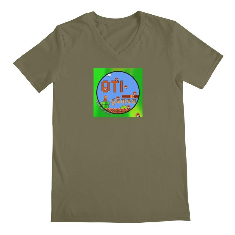 OTI Games #1 Men's Regular V-Neck by OTInetwork