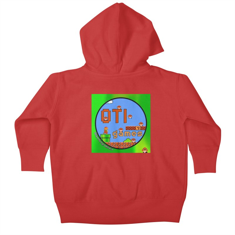 OTI Games #1 Kids Baby Zip-Up Hoody by OTInetwork