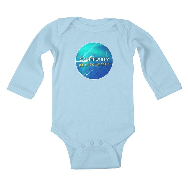Community Tecnologica Kids Baby Longsleeve Bodysuit by OTInetwork