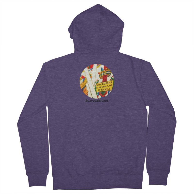 CardGamesBot Men's French Terry Zip-Up Hoody by OTInetwork