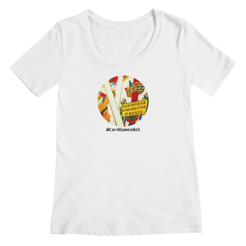 CardGamesBot Women's Regular Scoop Neck by OTInetwork